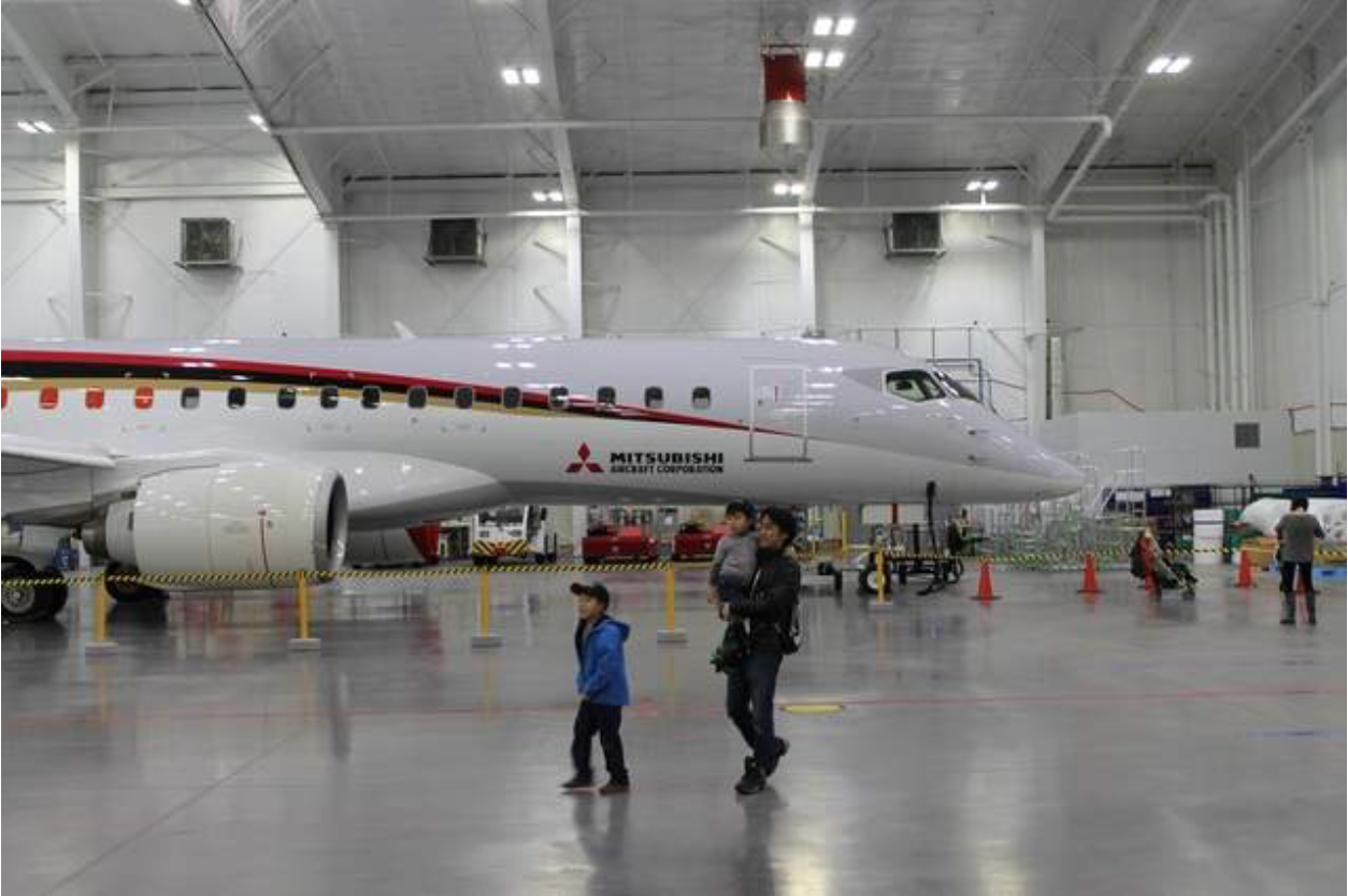 MITSUBISHI SHOWS OFF NEW PLANES