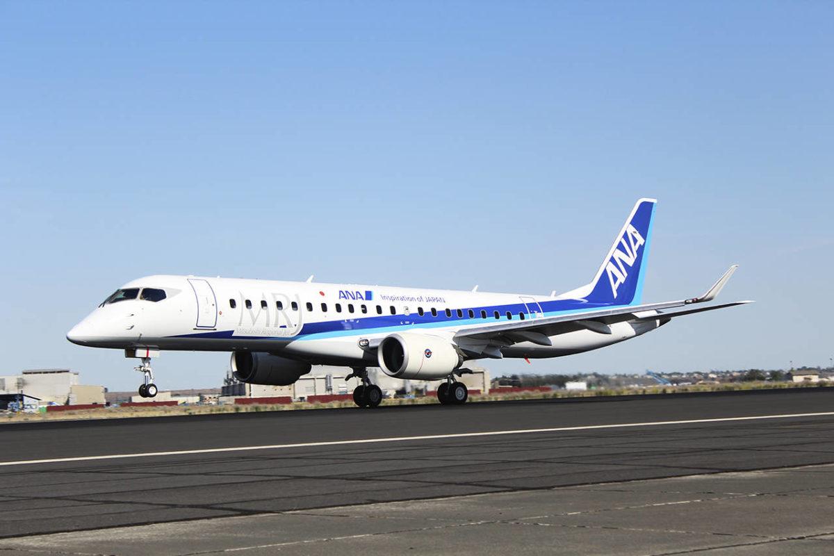 Mitsubishi takes new MRJ90 from Moses Lake to Paris Air Show